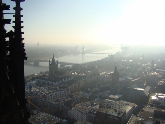 Some views from the cologne cathedral to the north above left and to